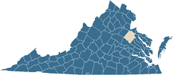 Map of Caroline County